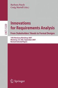 Innovations for Requirement Analysis. From Stakeholders' Needs t