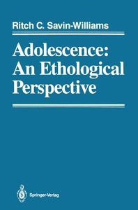 Adolescence: An Ethological Perspective