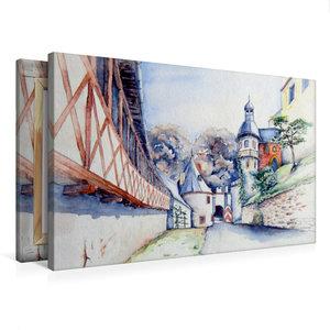 Premium Textil-Leinwand 75 cm x 50 cm quer An der Rochsburg