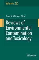 Reviews of Environmental Contamination and Toxicology Volume 225 - zum Schließen ins Bild klicken
