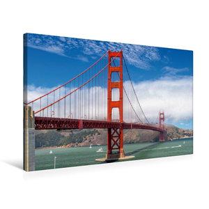 Premium Textil-Leinwand 75 cm x 50 cm quer Golden Gate in San Fr