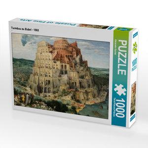 CALVENDO Puzzle Turmbau zu Babel - 1563 1000 Teile Lege-Größe 64