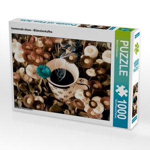homemade chaos - Blümchenkaffee 1000 Teile Puzzle quer