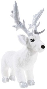 Heunec 751873 - Crownie Rentier, liegend, 30 cm, weiß, Plüschtie