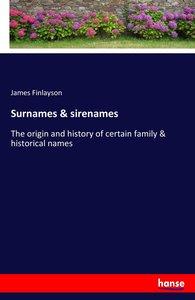 Surnames & sirenames