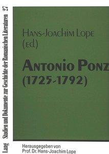 Antonio Ponz (1725-1792)