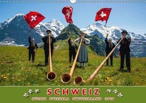Schweiz Suisse Svizzera Switzerland 2018 (Wandkalender 2018 DIN