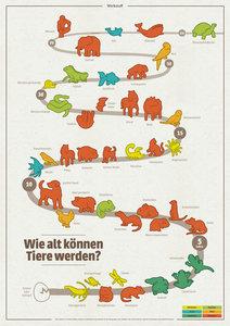 Wie alt können Tiere werden (Poster)