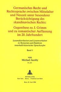 Germanisches Recht und Rechtssprache zwischen Mittelalter und Ne