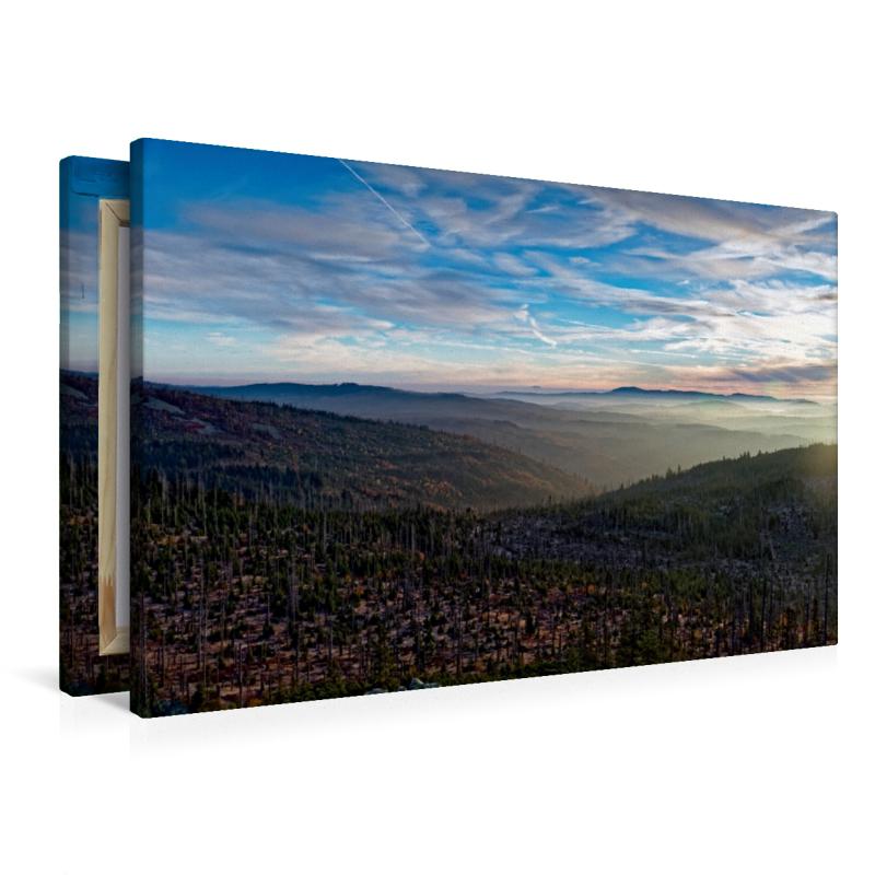 Premium Textil-Leinwand 90 cm x 60 cm quer Sonnenuntergang am Lu - zum Schließen ins Bild klicken