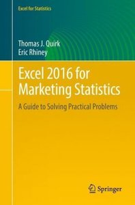 Excel 2016 for Marketing Statistics