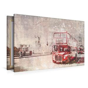 Premium Textil-Leinwand 120 cm x 80 cm quer City-Art LONDON Rote
