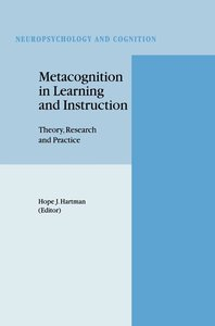 Metacognition in Learning and Instruction