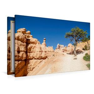 Premium Textil-Leinwand 120 cm x 80 cm quer UTAH Bryce Canyon Wa