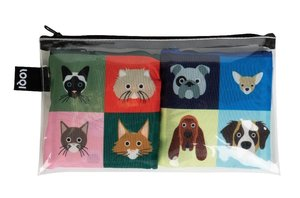 LOQI Collection Pocket Artist Pocket - Smart Traveller Cats And