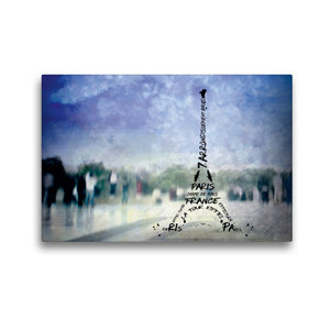 Premium Textil-Leinwand 45 cm x 30 cm quer PARIS Trocadero und E