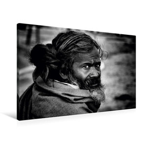 Premium Textil-Leinwand 90 cm x 60 cm quer Sadhu von Jagdev Sing