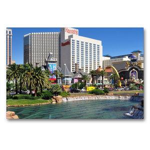 Premium Textil-Leinwand 90 cm x 60 cm quer Casinos und großzügig