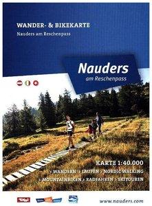 Alpenwelt Luftbildpanorama & Wanderkarte Nauders
