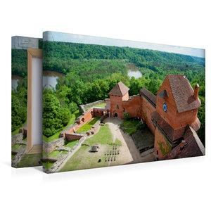 Premium Textil-Leinwand 45 cm x 30 cm quer Burg Turaida