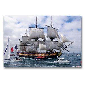 Premium Textil-Leinwand 90 cm x 60 cm quer Het fregat Hermione,