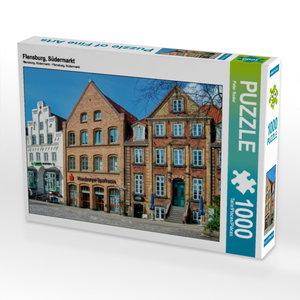 CALVENDO Puzzle Flensburg, Südermarkt 1000 Teile Lege-Größe 64 x