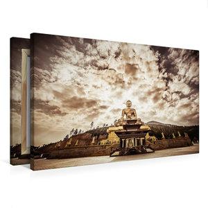 Premium Textil-Leinwand 75 cm x 50 cm quer Große Buddha Statue b