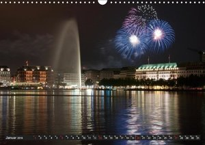 Mein Hamburg - Am schönsten bei Nacht (Wandkalender 2019 DIN A3
