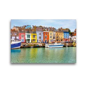 Premium Textil-Leinwand 45 cm x 30 cm quer Hafen von Weymouth