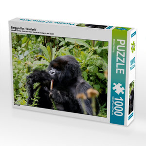 CALVENDO Puzzle Berggorillas - Mahlzeit 1000 Teile Lege-Größe 64