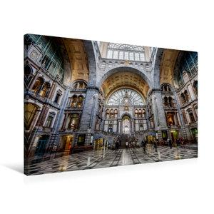 Premium Textil-Leinwand 75 cm x 50 cm quer Historischer Bahnhof