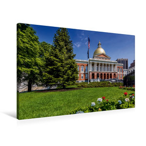 Premium Textil-Leinwand 90 cm x 60 cm quer BOSTON Massachusetts