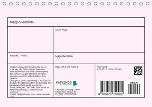 Magnolienblüte (Tischkalender 2020 DIN A5 quer)