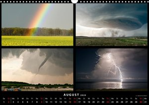 Gewitter - Showdown Tornado Alley (Wandkalender 2020 DIN A3 quer