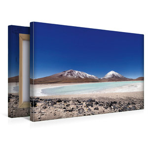 Premium Textil-Leinwand 45 cm x 30 cm quer Laguna verde mit Lica