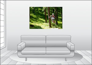 Premium Textil-Leinwand 120 cm x 80 cm quer Tabletop
