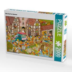 Mein Dorf im Sommer 2000 Teile Puzzle quer