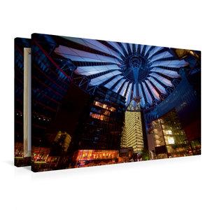 Premium Textil-Leinwand 90 cm x 60 cm quer Sony Center / Berlin