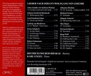 Lieder nach Texten von Johann Wolfgang von Goethe