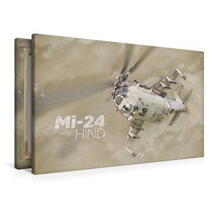 Premium Textil-Leinwand 90 cm x 60 cm quer Mi-24