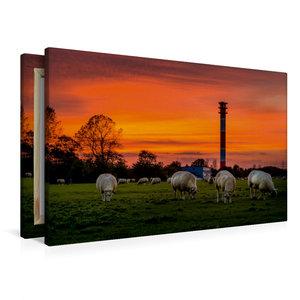 Premium Textil-Leinwand 90 cm x 60 cm quer Leuchtturm Oberfeuer