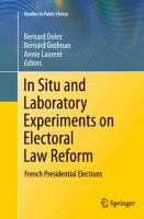 In Situ and Laboratory Experiments on Electoral Law Reform - zum Schließen ins Bild klicken