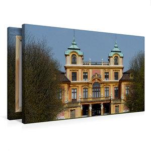 Premium Textil-Leinwand 75 cm x 50 cm quer Favorite-Schloss Ludw