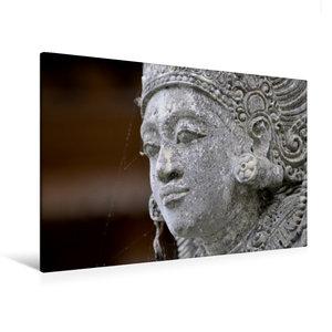 Premium Textil-Leinwand 120 cm x 80 cm quer Statue in einem Temp