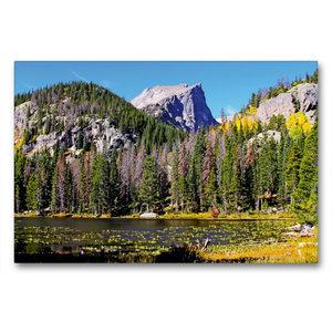Premium Textil-Leinwand 90 cm x 60 cm quer Rocky Mountain Nation