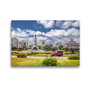 Premium Textil-Leinwand 45 cm x 30 cm quer Kubanisches Pastell