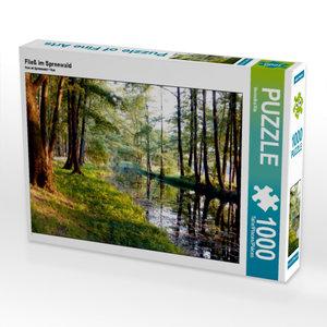 CALVENDO Puzzle Fließ im Spreewald 1000 Teile Lege-Größe 64 x 48