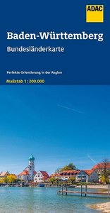 ADAC BundesländerKarte Deutschland Blatt 11 Baden-Württemberg 1: