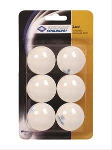 Tischtennis 6er Jade Ball, weiß 40mm