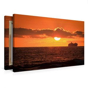 Premium Textil-Leinwand 75 cm x 50 cm quer Kona Coast